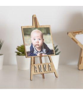 """Cornice fotografica personalizzata in legno """"cavalletto da pittura"""""""